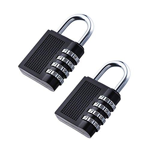 4-stellige Zink Sicherheit Vorhängeschloss Gym Sport Zahlenschloss (2Stück)