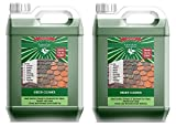 2x5L Lancelot Green Cleaner for Drives, Roofs, Walls Decking and Patios - Cleans and Kills Black Mould, Lichen and Algae. Removes Moss. Previously known as Mistral MossKill