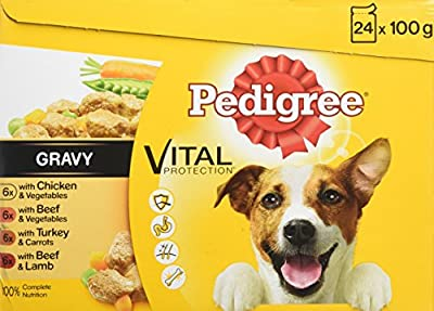 Pedigree Dog Pouches Favourites in Jelly, 24 x 100 g, Pack of 2 (Total 48 Pouches) from Mars Petcare
