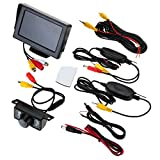 Wireless Auto Rear View Kit 10,9 cm TFT LCD Monitor 7 IR LED Rückfahrkamera 135 Grad