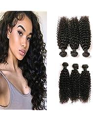 41e85c0fbfd0 Daimer Cheveux Brésiliens Courbés kinky curly jerry curly brazilian hair 3  paquets Cheveux Humains Extension 100%.