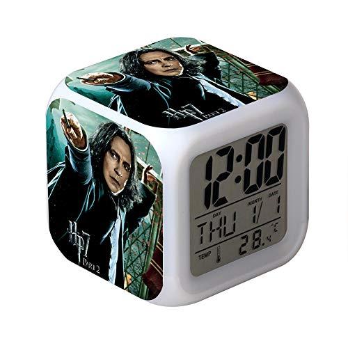 Harry Potter Despertador LED Despertador Electrónico Despertador con Luz de Noche niños y Niñas,1P