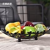 WANG-shunlida Home soggiorno moderno shuiguolan creative piatto di frutta,grande colore bronzo