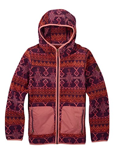 Burton Damen Anouk Fleece Full-Zip Hoodie, Starling Mojave, S Zip Damen Fleece