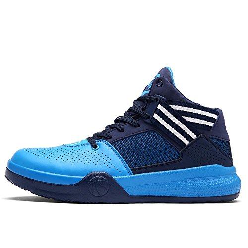 Scarpe da basket Sport all'aria aperta scarpe sportive Scarpe da corsa Scarpe da uomo High-top Cuscino d'aria Assorbimento degli urti traspirante Usura antiscivolo Blue