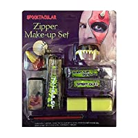 FashioN HuB Unisex Horror Party Accessory Adults Halloween Assorted Zipper Makeup Kit Supply