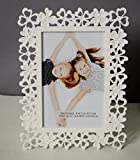 White Flower Table Photo Frame - 4X6