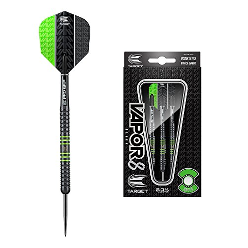 Target Darts Vapor8 Black Tungsten Steel Tip Darts Set