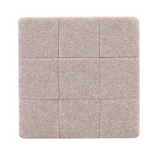 28PCS quadratisch selbstklebendem Filz Boden Wand Stuhl Tisch Möbel Kratzschutz Pads