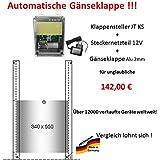 automatische Gänseklappe mit Klappe / Schieber ! Direkt vom Hersteller