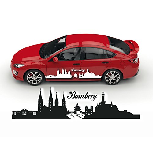 Skyline Bamberg Auto Aufkleber Sticker Cartattoo Silhouette Deutschland Folienplot |SKD026