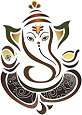 Paper Plane Design Decals Ganesha Ganpati ji Wall Sticker (50x70cm)