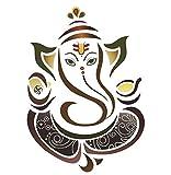 #3: Paper Plane Design Decals Ganesha Ganpati ji Wall Sticker (50x70cm)
