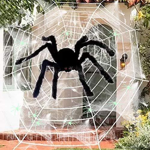 Joyibay Halloween Spinnennetz Set Scary Spooky Spider Dekoration Halloween Prop (Halloween-dekorationen Scary Freien Im)