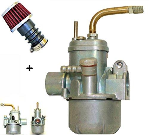 SET: Tuning Vergaser Ø 12mm + Sport Luftfilter Ø 19mm Mofa Moped (M-6189) (6-039)