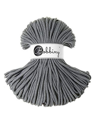 Bobbiny Cords 5 mm - Rope-Garn 100 m (Steel) -