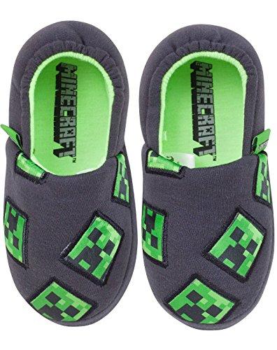 Vanilla Underground Minecraft Creeper Boy's Slippers (2 UK)