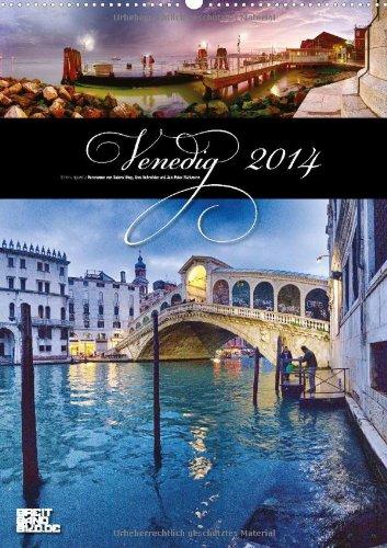 Venedig (Wandkalender 2014 DIN A2 hoch): Fernweh Panoramen - Familienplaner (Monatskalender, 14 Seiten)