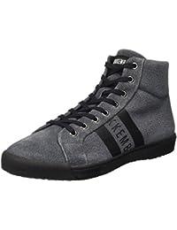 Bikkembergs Campus 732 Mid Shoe M Suede Denim Effect, Zapatillas Altas para Hombre