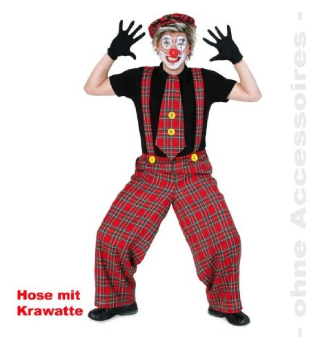 Clownhose Kalle XL mit Krawatte Clown Hose Unisex