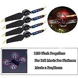 Propulsores de flash de luz LED plegables de liberación rápida de bajo ruido para DJI Mavic Pro / Mavic Pro Platinum 2 pares