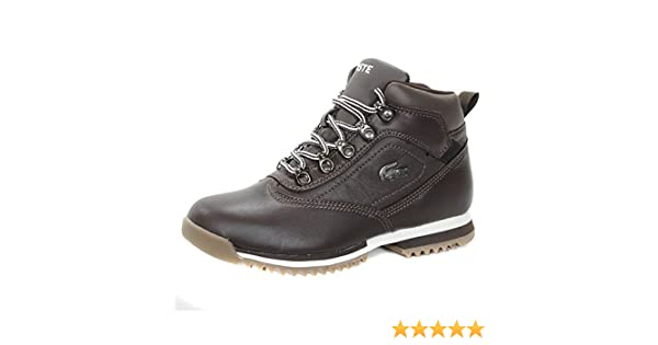 de9329f2be286a Lacoste Horben Leather Ankle Hi Kids Boots - Brown 3.5 UK  Amazon.co.uk   Shoes   Bags