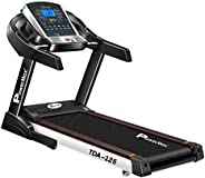 PowerMax Fitness TDA-125 2HP (4HP Peak) Motorized Treadmill with Free Installation Assistance, Home Use &
