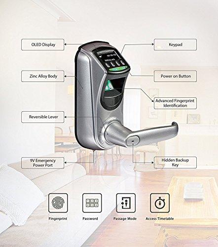 Zkteco Digitales Trschloss Automatischer Trffner Elektrisch