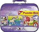 Schmidt Spiele 55596 - Bella Sara, Puzzle-Box 2 x 60, 2 x 100 Teile im Metallkoffer