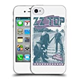 Head Case Designs Offizielle ZZ Top Tres Hombres Weiss Posters Soft Gel Hülle für Apple iPhone 4/iPhone 4S