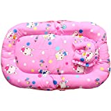 Baby Station Baby Bed Tent With Mosquito Net (Pink Candy Print)