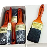 ROTIX-9181 6 x Flachpinsel Lackier-Pinsel 9. Stärke Profi-Qualität 6er-Pack (50 mm)
