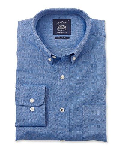 savile-row-mens-blue-brushed-twill-smart-casual-classic-fit-single-cuff-shirt-s-standard