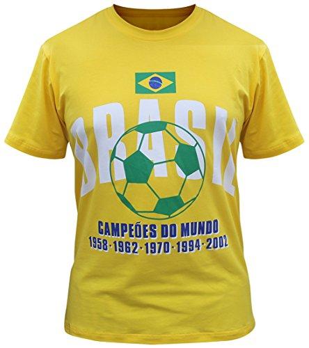 Brazil Camisetas Brasil Jersey de los Hombres (Tamaño:XL)