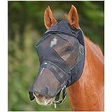 Gorro anti-mouche Premium sin orejas negro poni