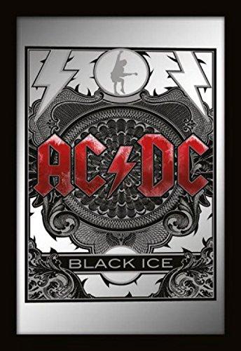 Set: AC/DC, Black Ice Deko-Spiegel (32x22 cm) Inklusive 1x 1art1® Überraschungs-Sticker