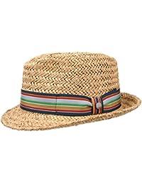 Checked Ribbon Trilby Raffia Hat by Lierys Sun hats Lierys IT70A