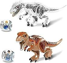 PIXNOR Edificio de dinosaurio Jurásico bloques miniatura figuras de acción