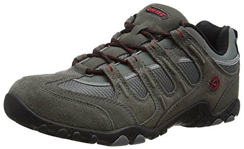 Hi-Tec Quadra Classic O005551 Herren Trekking- und Wanderhalbschuhe Grey (Charcoal/Black/Red 053)
