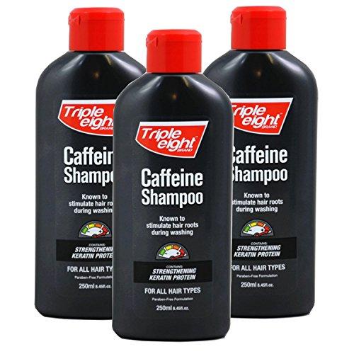 Triple Acht Koffein Shampoo für alle Haartypen, 250ml (3Pack)