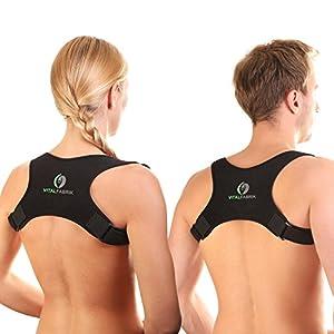 SIEGER 2019 Vitalfabrik Rückenstütze Geradehalter zur Haltungskorrektur Schultergurt Rückenstabilisator Rückenschmerzen Haltungskorrektur Rücken Damen Haltungskorrektur Rücken Männer Rücken Geradehalter Herren