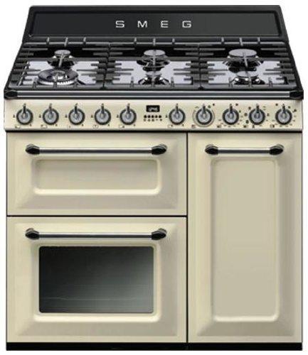 Smeg TR93P Libera installazione Piano cottura a gas A Crema cucina