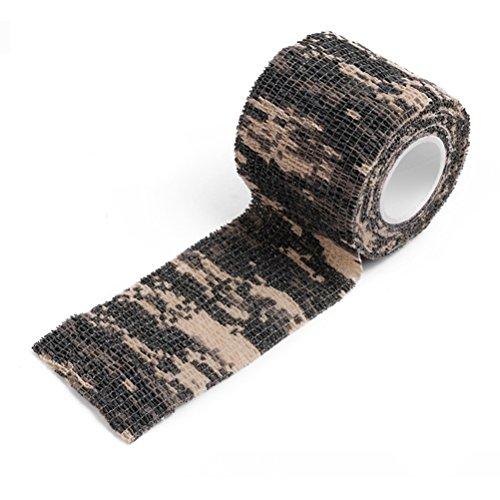 VORCOOL Tarnung Tape Camo Wrap selbstklebende Vlies Camo Stretch Bandage für die Jagd Pistole/Messer/Taschenlampe/Teleskop/Fahrrad (Jagd Pistole)