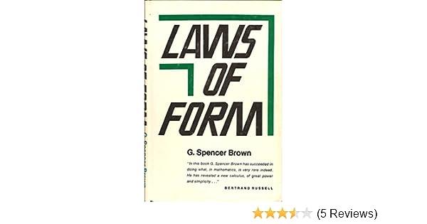 Laws Of Form Amazon G Spencer Brown Fremdsprachige Bcher