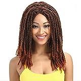 Parrucca da donna Treccia sporca Fatta a mano monocromatica Reggae Treccia sporca Rock Hip-Hop Treccia sporca africana da 22 pollici