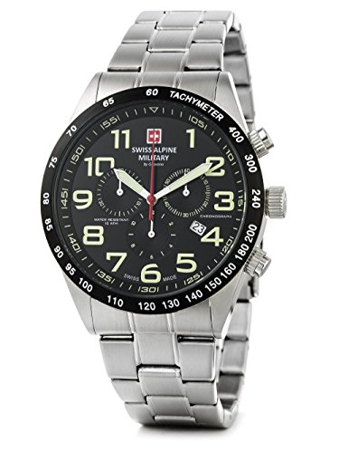 Swiss Alpine Military by Grovana Herrenuhr Chrono 10 ATM Black 7047.9137SAM