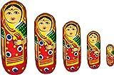 #6: Handmade Nested Wooden Doll Showpiece Gift Set of 5