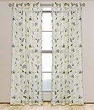 Best Home Fashion Sheer Curtains - LJ Home Fashions Thyme Sheer Botanical Leaf Print Review