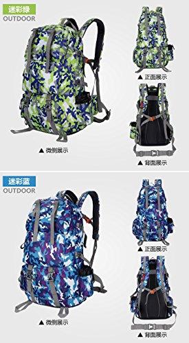 Wanderrucksäcke, Trekkingrucksäcke, Camping Rucksack / Reisen Rucksack / Trekking Rucksäcke / Casual Daypack Tasche für Outdoor Sport Wandern Trekking Camping Klettern Berg camouflage green