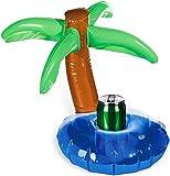 Aufblasbar Getränke Dose Halter Island Mit Palm Baum Drink Sommer Bade Schwimmbad Bier Spielzeug Boot-startseite Schwimmende Whirlpool